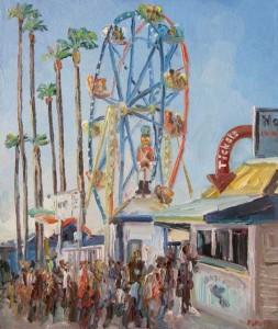 Balboa Island Ferris Wheel, by John Kilduff